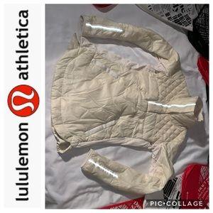 LuLuLemon Cream Down for A Run Jacket/Coat 8